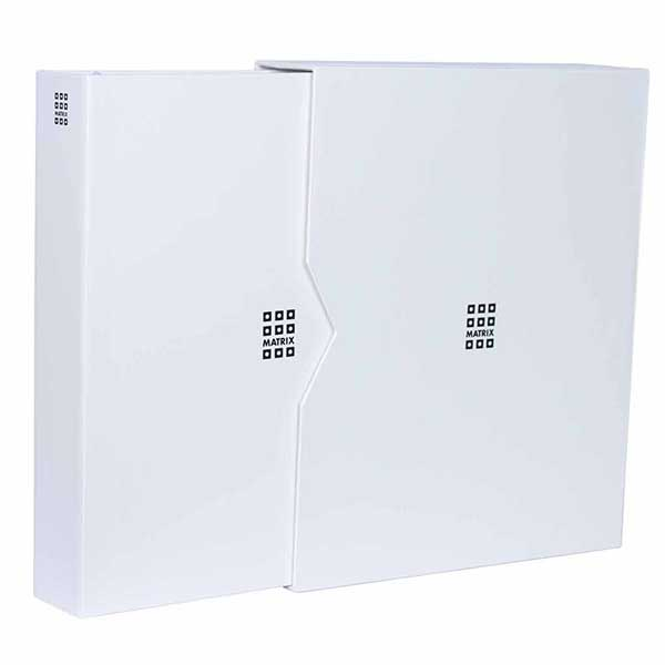 Lighthouse MATRIX Coin Holder Album - White - incl. 5 Coin Holder MATRIX Sheets and Matching Slipcase