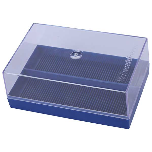 Lighthouse Plastic Box for 100 Coin Holders - Blue