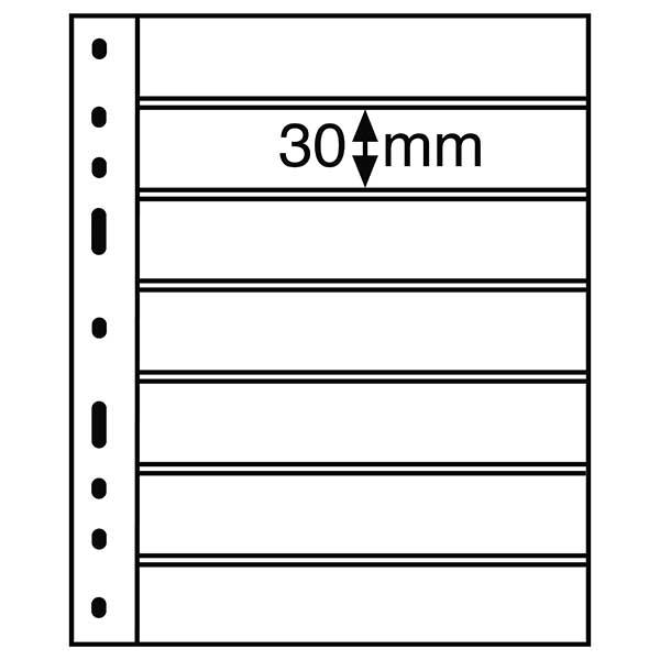 Lighthouse Plastic Pocket OPTIMA - 7 way division - Black