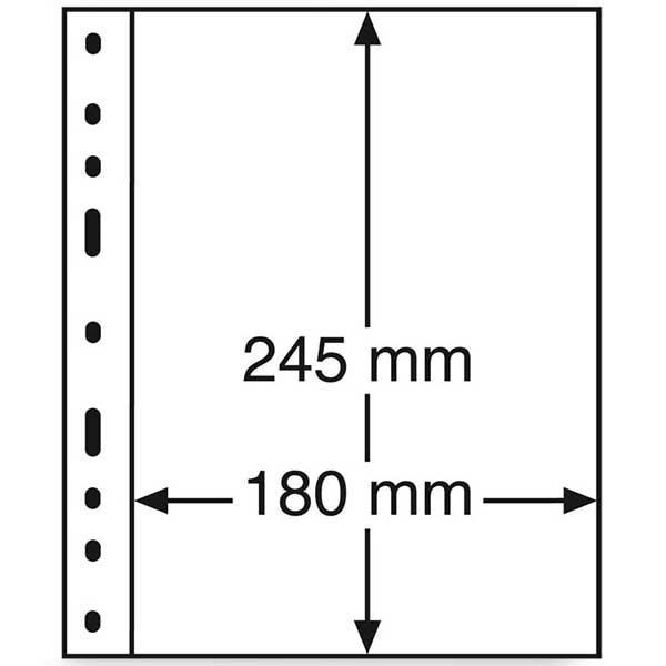 Lighthouse Plastic pockets OPTIMA - 1 way division - Black