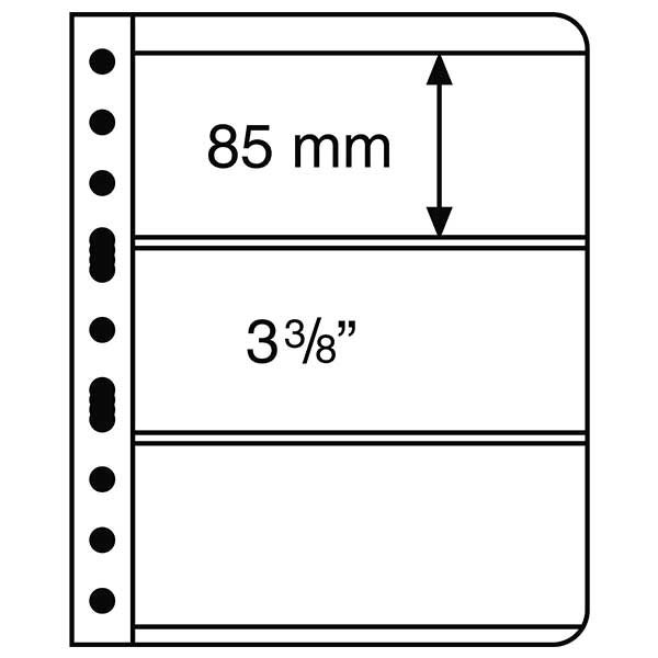Lighthouse Plastic Pockets VARIO - 3 way division - Black film