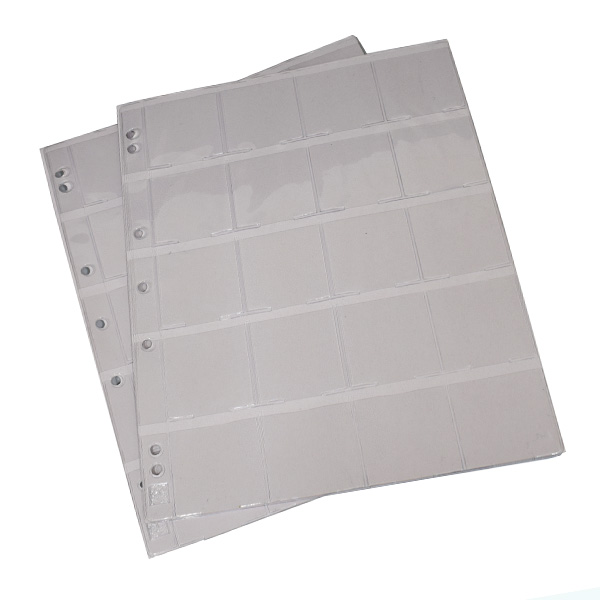 Lighthouse Plastic Stock Pages GRANDE - with 20 spaces for Coins Holders
