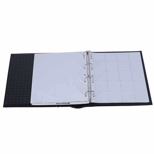 Lighthouse Ringbinder GRANDE - in classic design with 10 Sheets for 200 Coins - 50 x 50mm - incl. Slipcase - Black