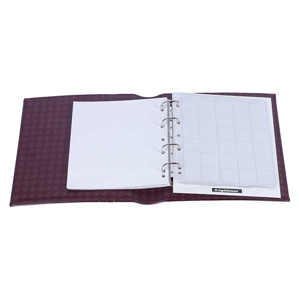 Lighthouse Ringbinder OPTIMA - in classic design incl. Slipcase - Red