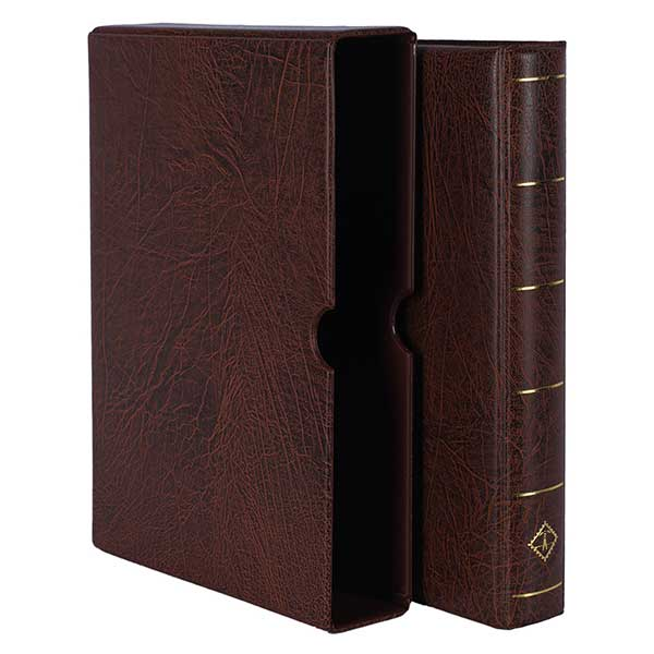 Lighthouse Ringbinder VARIO F - incl. Slipcase - Brown