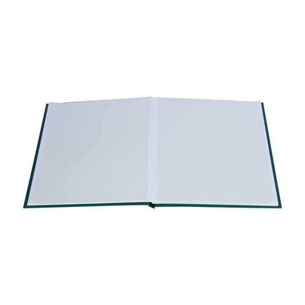 Lighthouse Stockbook DIN A4 - 16 White pages - Non-padded cover - Green