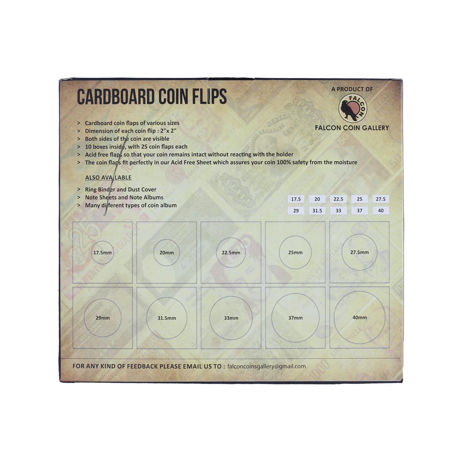 Money tree - Cardboard Coin Flips - White