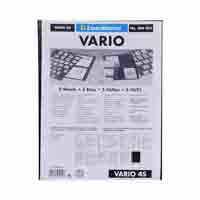Lighthouse Plastic Pockets VARIO - 4 way division - Black film
