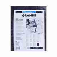 Lighthouse Plastic pockets GRANDE - three way division - black