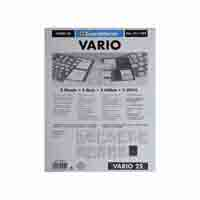 Lighthouse Plastic Sheets VARIO  2-way-division black film
