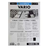 Lighthouse Plastic pockets VARIO 7-way division- black film
