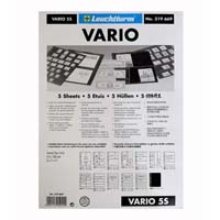 Lighthouse Plastic pockets VARIO 5-way division- black film