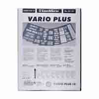 Lighthouse Plastic Pockets VARIO PLUS - Extra strong film - 1 way division - Black