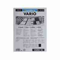 Lighthouse Plastic Sheets VARIO  2-way-division clear film