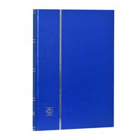 Lighthouse Stockbook A4- 16 White Pages- Nonpadded Cover- Blue