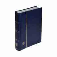 Lighthouse Stockbook for 128 letters and postcards - 64 white pages - blue