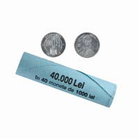 Romania 1000 Lei Mint Roll 40 Coins