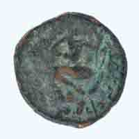 Kushan Dynasty Coin of Huvishka Crossed-leg - Mao