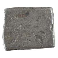 PMC 5 Punch Marked Silver Karshapana Coin of Imperial Magadha Janapada 600 BC-150 BC