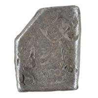 PMC 28 Punch Marked Silver Karshapana Coin of Imperial Magadha Janapada 600 BC-150 BC