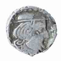 Western Kshatrapas Coin Drachma of Visvasimha II