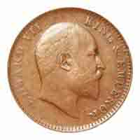 British India King Edward VII Quarter Anna Coin 1906 Calcutta