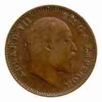 British India King Edward VII Quarter Anna Coin 1910 Calcutta