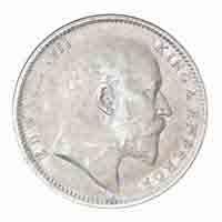 British India King Edward VII One Rupee Coin 1904 Calcutta