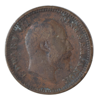British india King edward VII - 1/2 Pice Coin 1904 calcutta