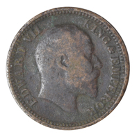 British india King edward VII - 1/2 Pice Coin 1906 calcutta