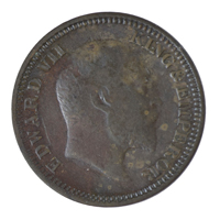 British india King edward VII - 1/2 Pice Coin 1908 calcutta