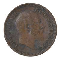 British india King edward VII - 1/2 Pice Coin 1910 calcutta