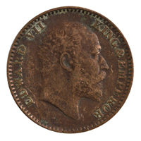 British india King edward VII - 1/12 Anna Coin 1905 calcutta