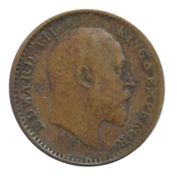 British india King edward VII - 1/12 Anna Coin 1908 calcutta