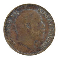 British india King edward VII - 1/12 Anna Coin 1909 calcutta