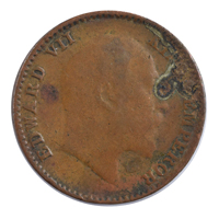 British India King Edward VII - 1/12 Anna Coin 1904 Calcutta