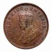 British India King George V 1/12 Anna Coin 1917 Calcutta