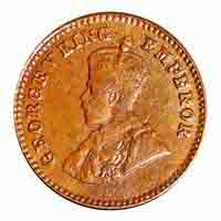 British India King George V 1/12 Anna Coin 1920 Calcutta
