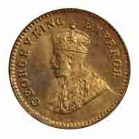 British India King George V 1/12 Anna Coin 1921 Calcutta