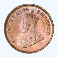 British India King George V 1/12 Anna Coin 1912 Calcutta