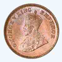 British India King George V 1/12 Anna Coin 1934 Calcutta