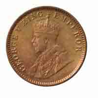 British India King George V 1/12 Anna Coin 1936 Calcutta
