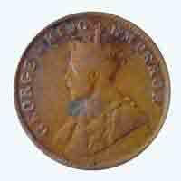 British India King George V Quarter Anna 1918 Calcutta