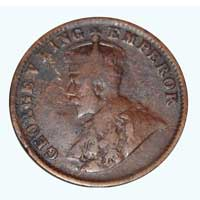 British India King George V Quarter Anna 1919 Calcutta