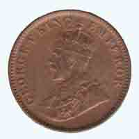 British India King George V Quarter Anna 1934 Calcutta