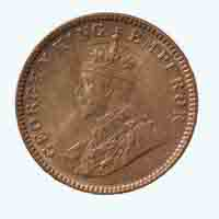 British India King George V Quarter Anna Coin 1933 Calcutta