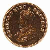 British India King George V 1/12 Anna Coin 1919 Calcutta