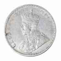 British India King George V One Rupee 1916 Calcutta