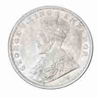 British India King George V One Rupee Coin 1917 Calcutta