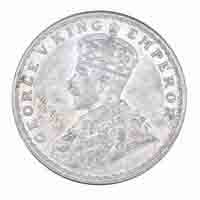 British India King George V One Rupee Coin 1918 Calcutta